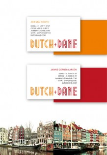 Logo and business cards for dutch+dane