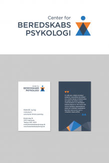 logo, visitkort, business card, center for beredskabspsykologi, Hausfrau, RHG3