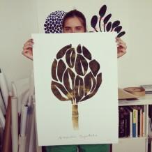 nygårdsmaria, graphic print, botanical print