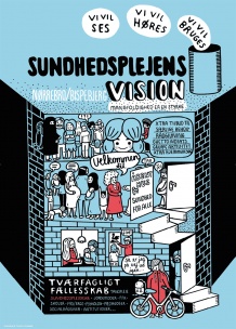 poster, illustration, visions, values, health visitors, Copenhagen